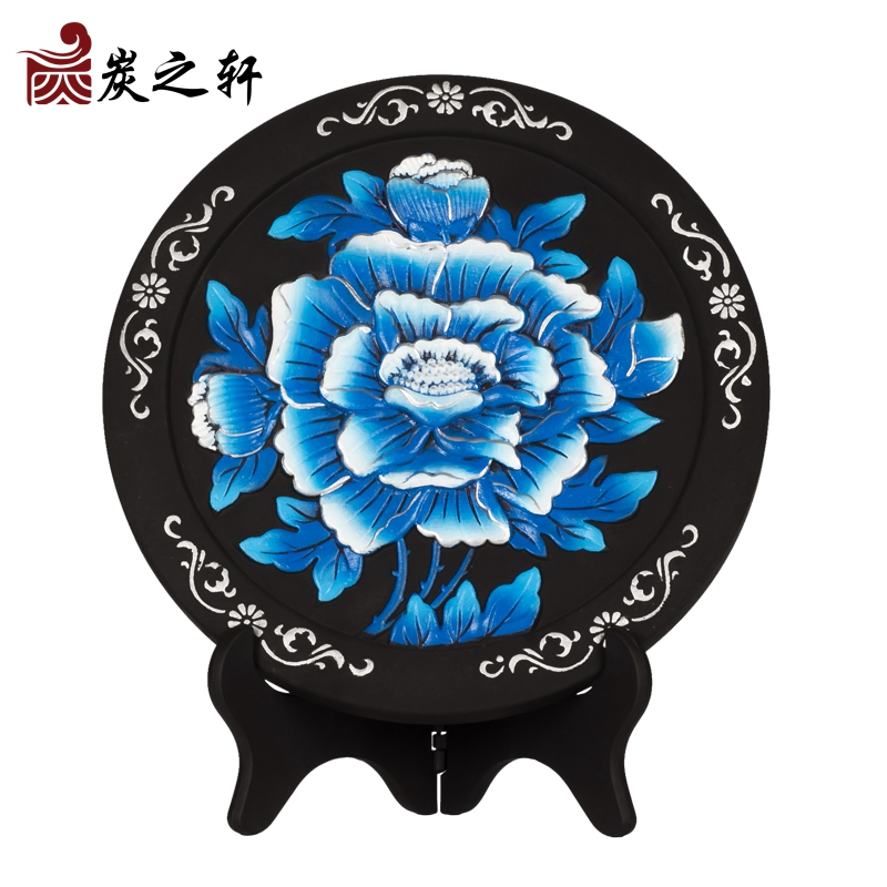 Chinese wind chinese creative housewarming gift ornaments carbon carving practical housewarming gift to commemorate the room hallway room decorations ornaments