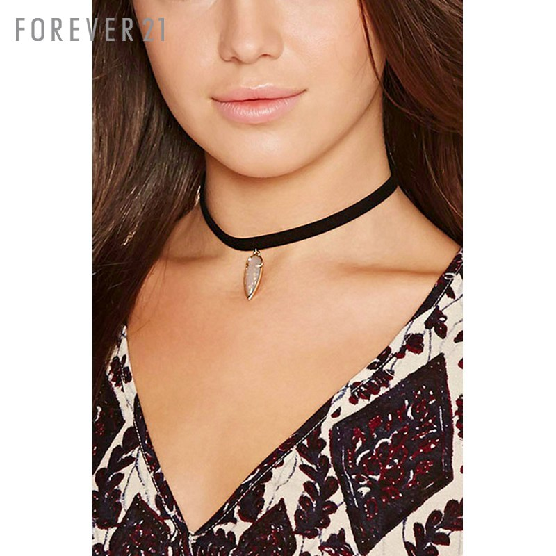 Choker necklace imitation teardrop necklace forever21