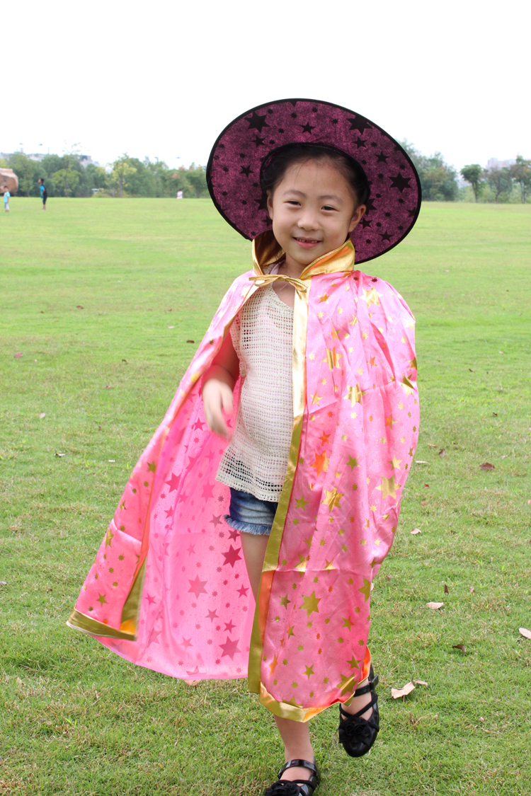 Chong cheng electronic children's day halloween witch wizard cloak cape cloak pumpkin bucket pumpkin pumpkin pumpkin hat clothes lantern