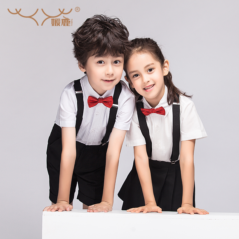 Chorus chorus clothing clothing costumes flower girl dresses for children boys and girls dress suit children's school clothing suspenders pants korean autumn