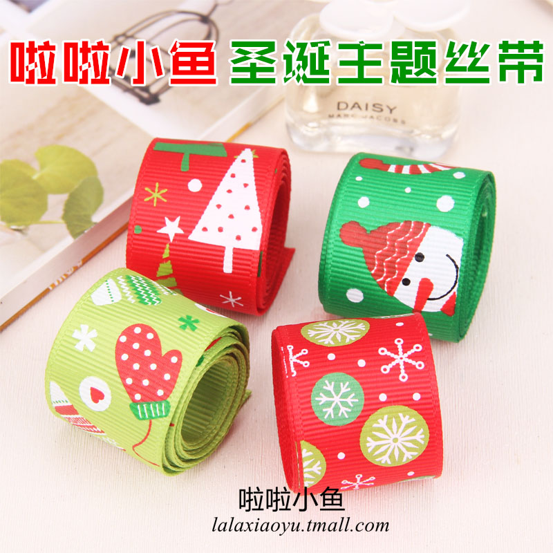 Christmas and new year snowflake snowman korean diy hair accessories hairpin hair ribbon ribbon ribbon handmade cards material jewelry accessories