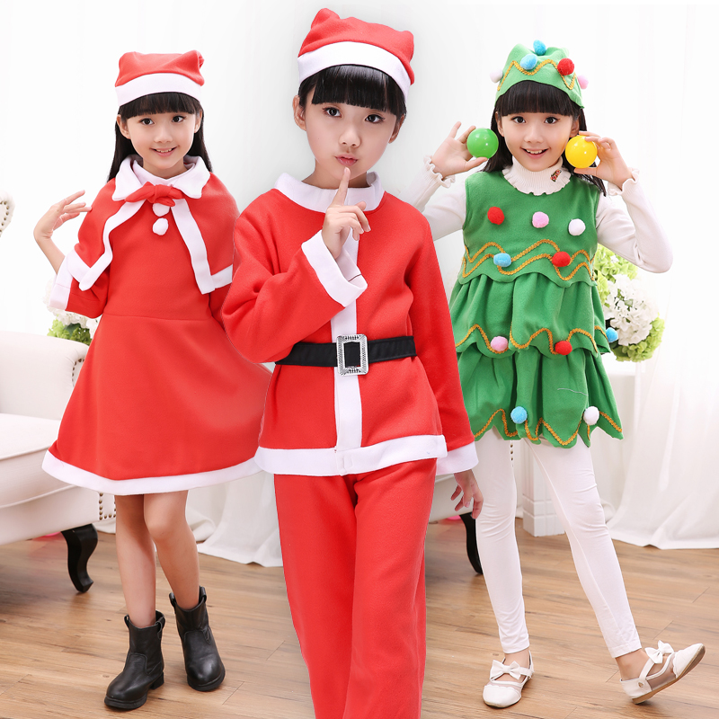 Get Quotations · Christmas clothing children christmas costumes christmas  santa claus clothes boys and girls table play dress costumes - China Boys Christmas Outfit, China Boys Christmas Outfit Shopping