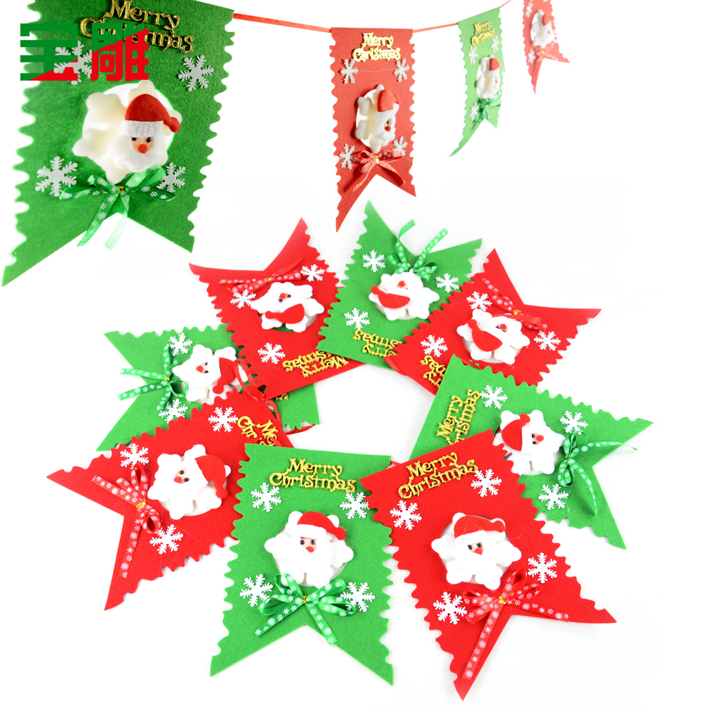 get quotations christmas decorations carved treasure to pull the flag pennant flag hanging flag octahedral six flags christmas - Christmas Wall Hanging Decorations