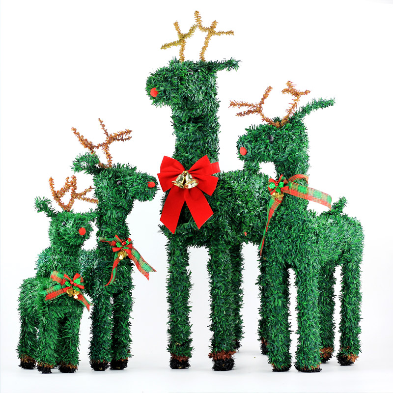 Christmas decorations christmas deer christmas tree scene decorative straw christmas deer elk christmas decoration lights