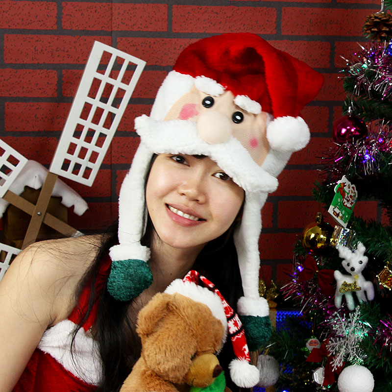 Christmas decorations christmas gifts christmas hats hat hat adult christmas hats santa claus snowman cartoon faces
