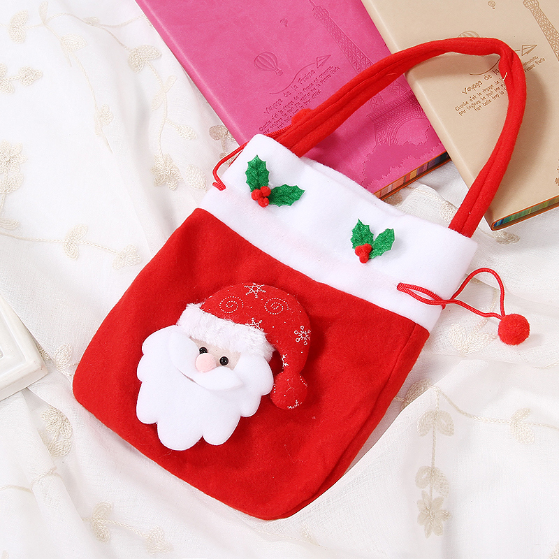 Christmas decorations christmas pocket bag of candy bag red bag gift bags christmas stockings