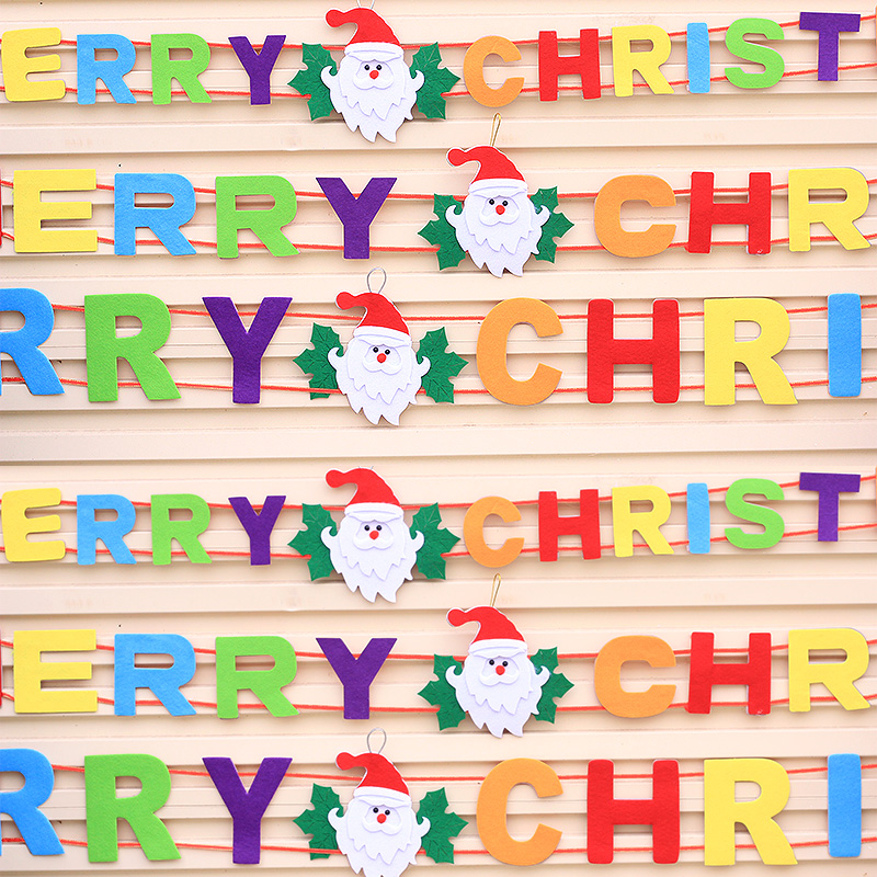 Christmas ornaments christmas ornaments christmas english alphabet strip note merry christmas christmas decoration supplies furnished