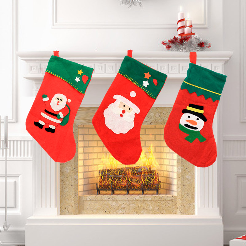 Christmas tree decorations christmas ornaments santa claus snowman christmas stockings socks socks gift bag candy bag large trumpet