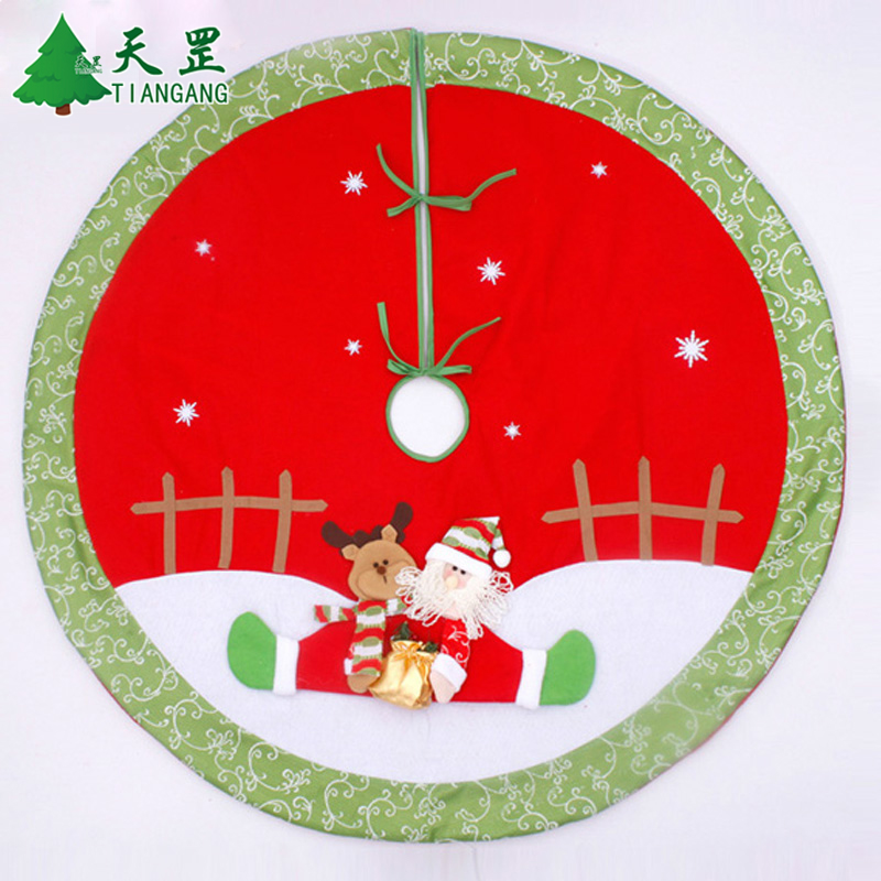 Christmas tree decorations christmas tree skirt diameter 90 cm/110cm cm upscale stereo thick skirt gift props