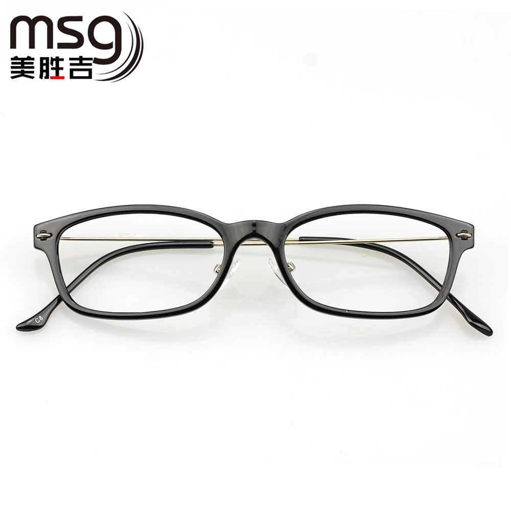 Chromotropic finished myopia frame glasses frame female models lightweight tr90 frame full frame glasses frame optical eye glasses frame men's flat