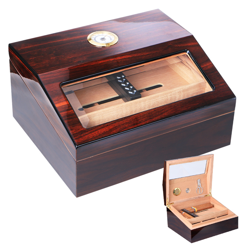 Cigarloong eggplant long cigar humidor cigar humidor cabinet humidor cigar humidor box large capacity portable box