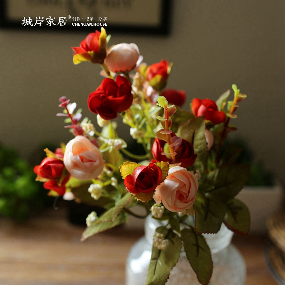 China big flower decor china big flower decor shopping guide at get quotations city coast upscale korean small tea rose silk flower artificial flower plastic flower decoration mightylinksfo