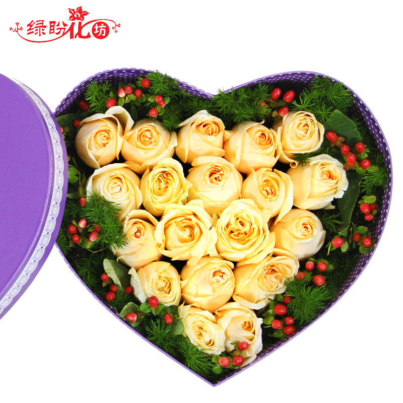 City flower delivery door blessing bouquet of red roses valentine's day gift to send his girlfriend a birthday gift lover