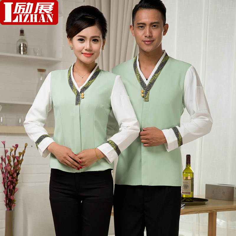 Cleaning clothes long sleeve female hotel room attendant uniforms fall and winter clothes hotel property cleaning staff uniforms