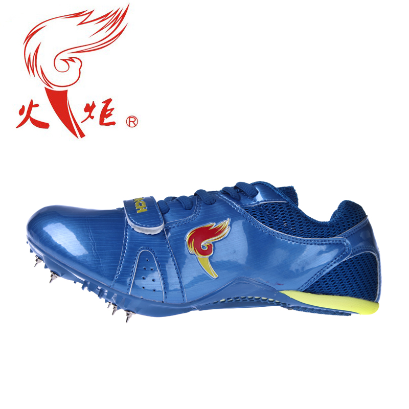 Clearance! free shipping! hales torch blue track and field sprint spikes running spikes nail shoes student shoes match