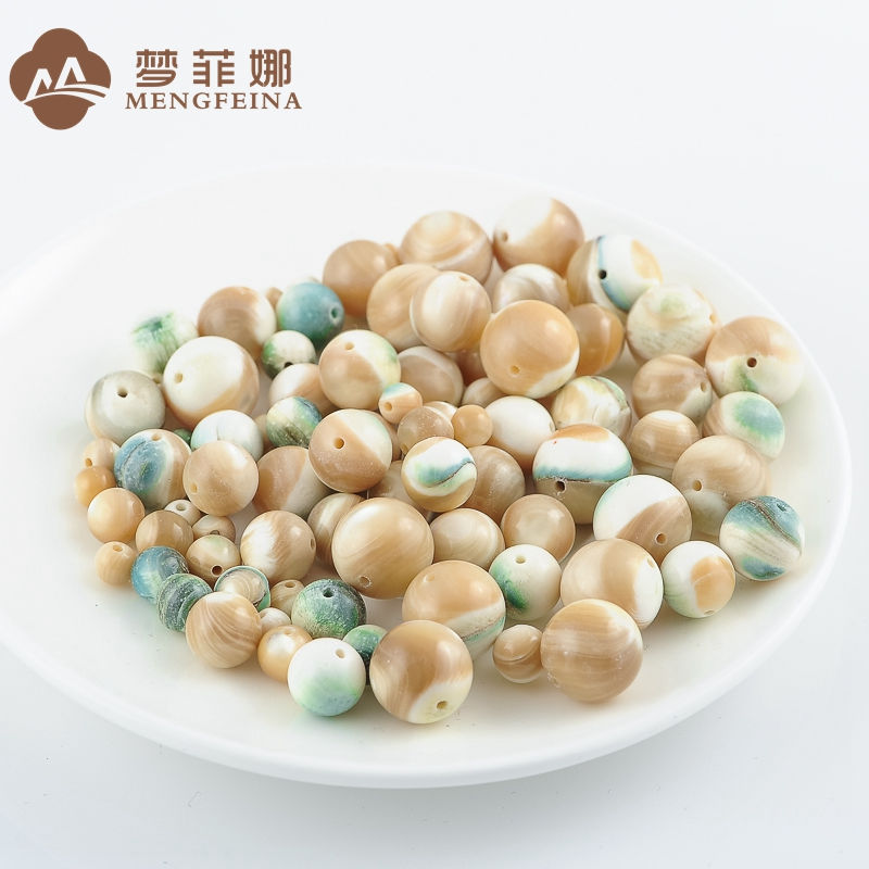 (Clearing dumped) natural queling clam semifinished diy loose beads necklace bead bracelet spacer beads