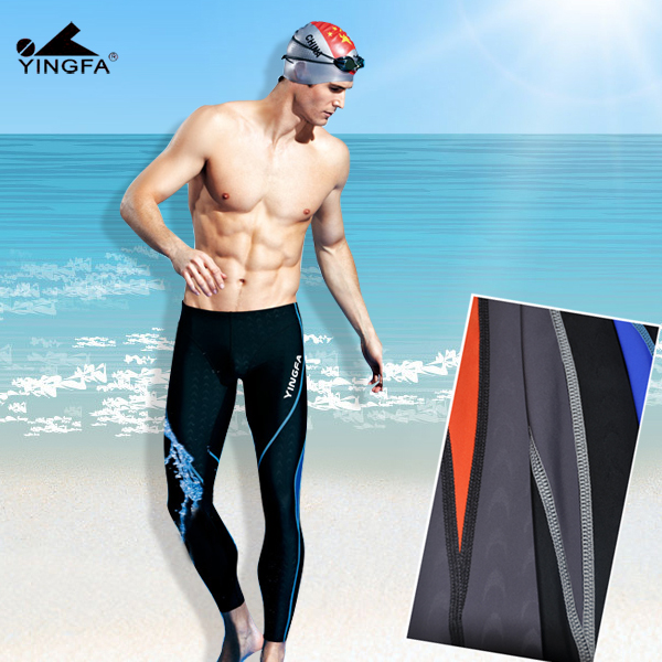 Climax genuine new swimming professional sided waterproof trousers 9117 male swimming trunks pants spandex silk mixed colors