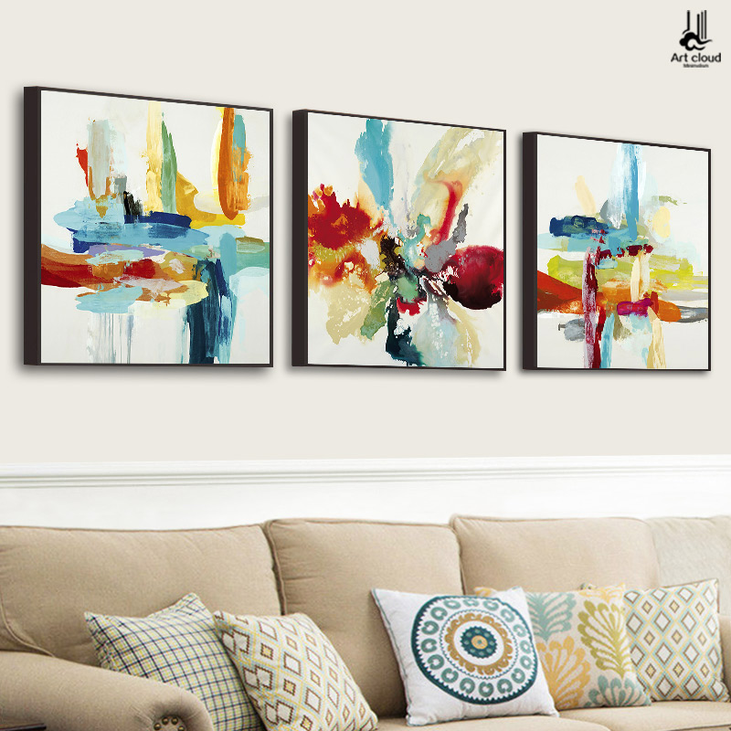 Cloud scandinavian modern minimalist abstract painting decorative painting the living room framed painting triple sofa backdrop painting paintings restaurant