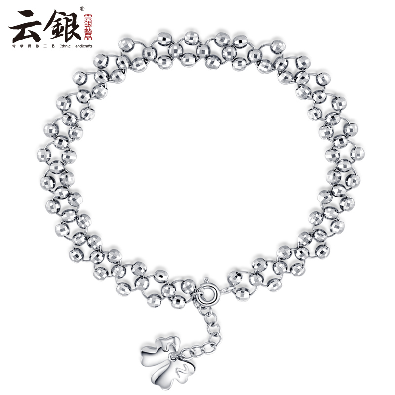Cloud silver 925 silver bracelet female korean fashion multilayer bracelet female models bow transfer beads beaded bracelet