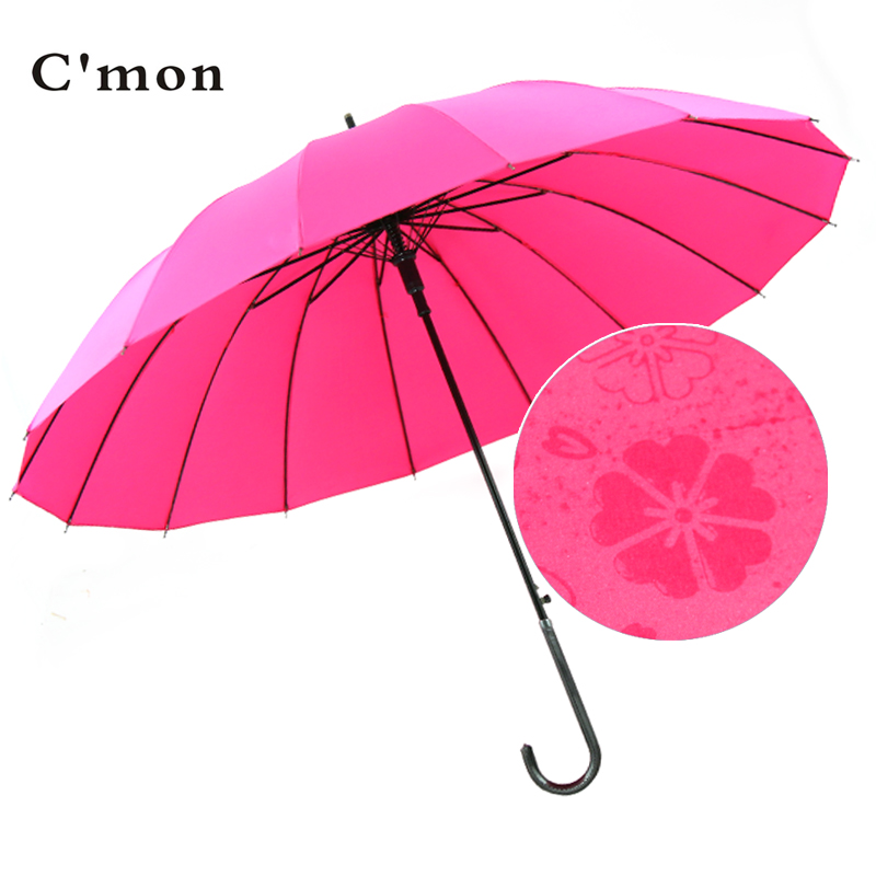 Cmon japanese small fresh 16 bone korea creative flowering water umbrella skillet automatic female sunny japanese wind