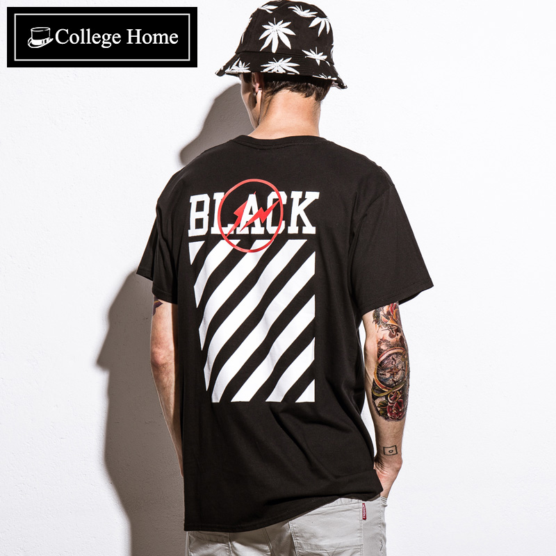 College home high street tide brand popular men's tide of japanese men round neck t-shirt men short sleeve t-shirt men