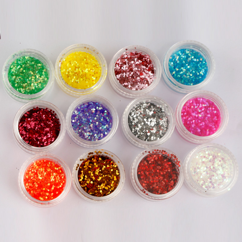 Color pink glitter glitter nail tools phototherapy crystal a laser sequins gradient gel nail polish jewelry