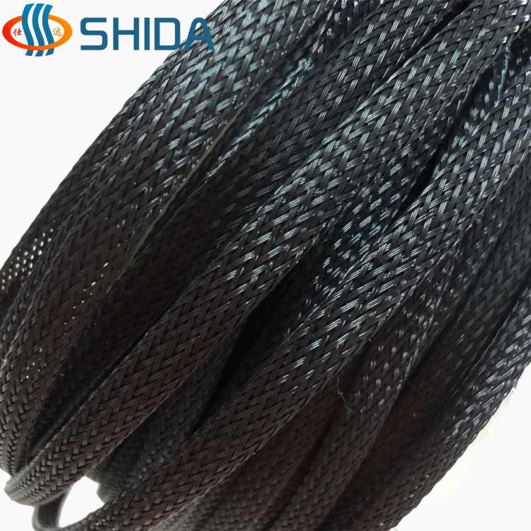 Color three wire snakeskin network encryption snakeskin tube 10mm pet braid nylon mesh nets suspension 1 m
