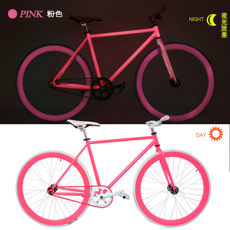 Color valley flying luminous fluorescent luminous dead coaster 700c 26 inch dead fly bicycle bike cycling men and women students