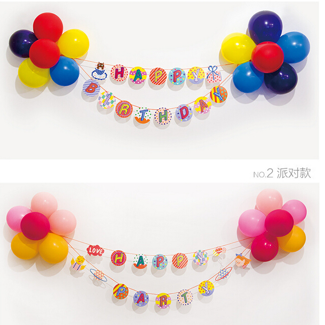Colorful balloons lovely shape necessary garland bunting banners birthday party packages arranged marriage room decoration supplies