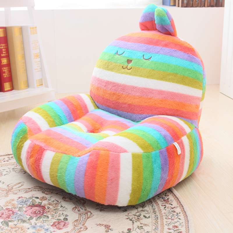 Get Quotations Colorful Color Stripes Hole Beanbag Sofa Floor Seat Lumbar Support For Children Baby Birthday Gift
