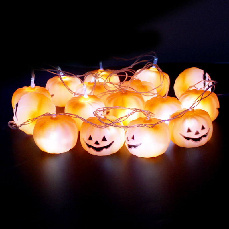 get quotations colorful halloween pumpkin luminous string lights bar lights decorative holiday shopping scene props skull lights