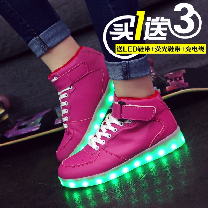 Colorful led usb charging luminous luminous shoes women shoes in summer and autumn lovers male and female students in flash fluorescent light shoes shoes