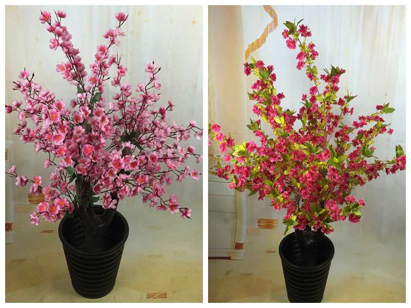 Colorful map fake fake tree potted plant simulation simulation simulation peach plum cherry tree living room floor artificial flowers silk flower