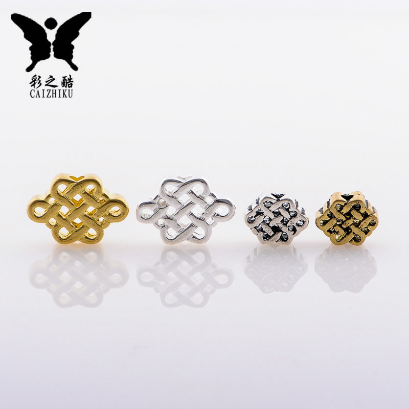 Combined gold and silver brass remember son head pu tizi bracelets chinese knot back cloud diy accessories xingyue bodhi accessories parts