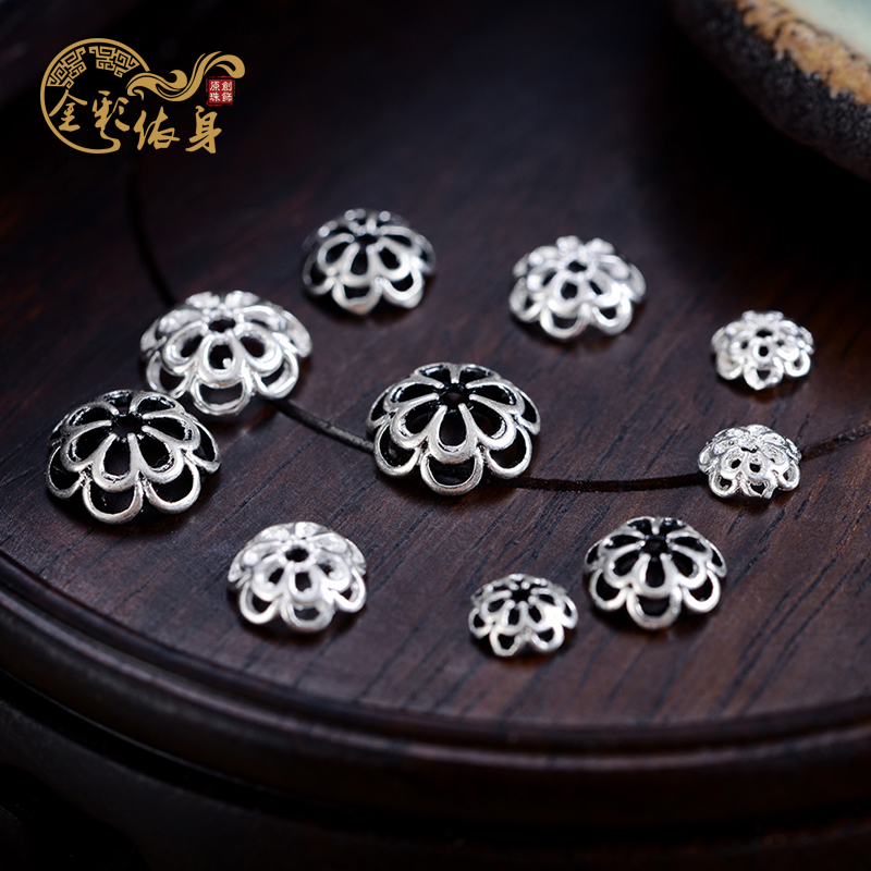 Combined gold and silver receptacle retro to do the old tibetan xingyue bodhi bracelets bracelet spacer spacer beads diy handmade with ornaments