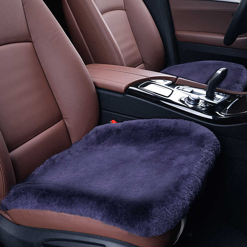 Comfortable wool backless car seat peugeot 307/308/408/508/3008/import 40 08 seat cushion