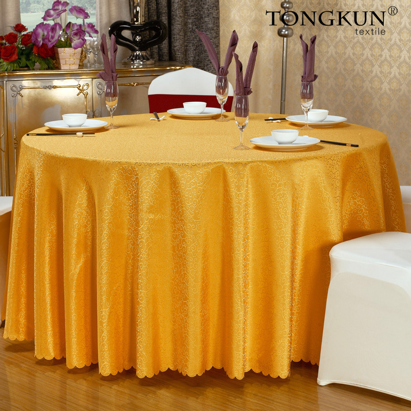 Conference hotel tablecloth round tablecloth table cloth tablecloth hotel tablecloth custom thick square chinese wedding banquet table skirts