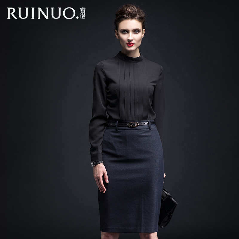 Connaught rui 2016 new winter high fashion temperament ol career women skirt suits business suits overalls summer