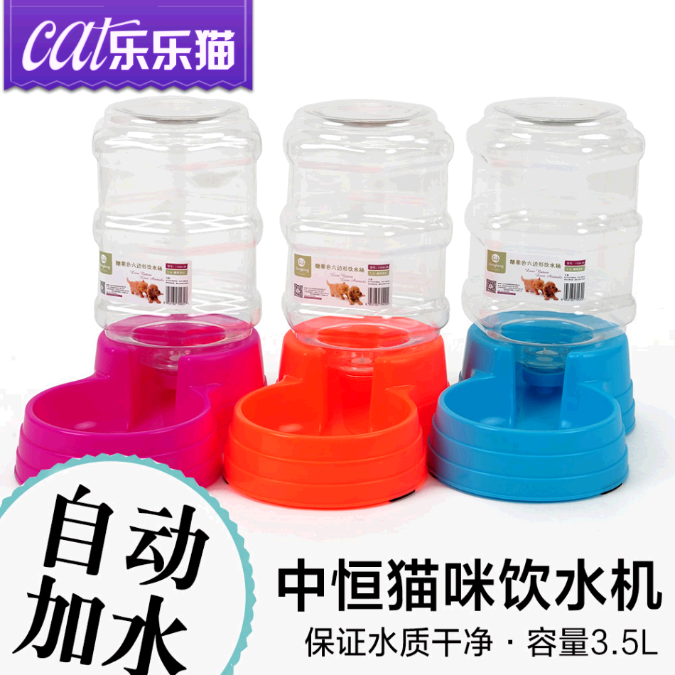Constant cats drinking water machine hexagon candy colored cats cats cats drinking fountains automatic feeding and watering device