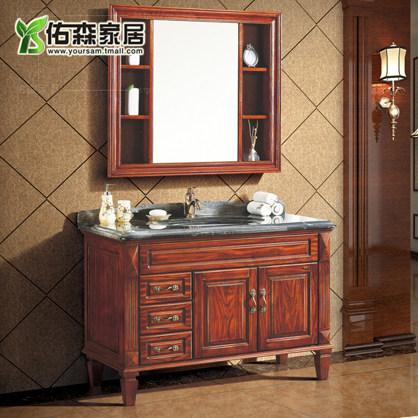 Continental antique chinese carved wood bathroom cabinet bathroom cabinet wood bathroom cabinet bathroom cabinet marble washbasin bathroom home wts