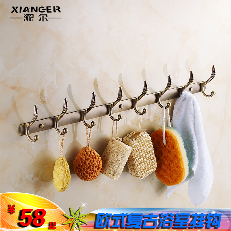 Continental antique yigou single hook wall coat hooks wall hooks single hook coat hooks door after coat hooks coat hooks creative euclidian