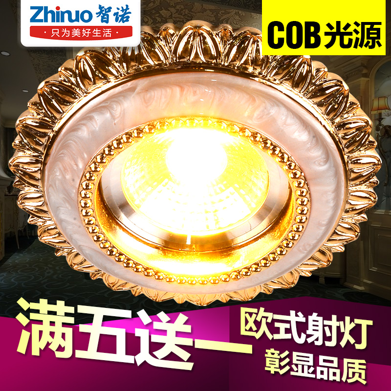 Continental ceiling spotlights downlight led spotlights american 3wcob cat bovine lights living room downlight backdrop