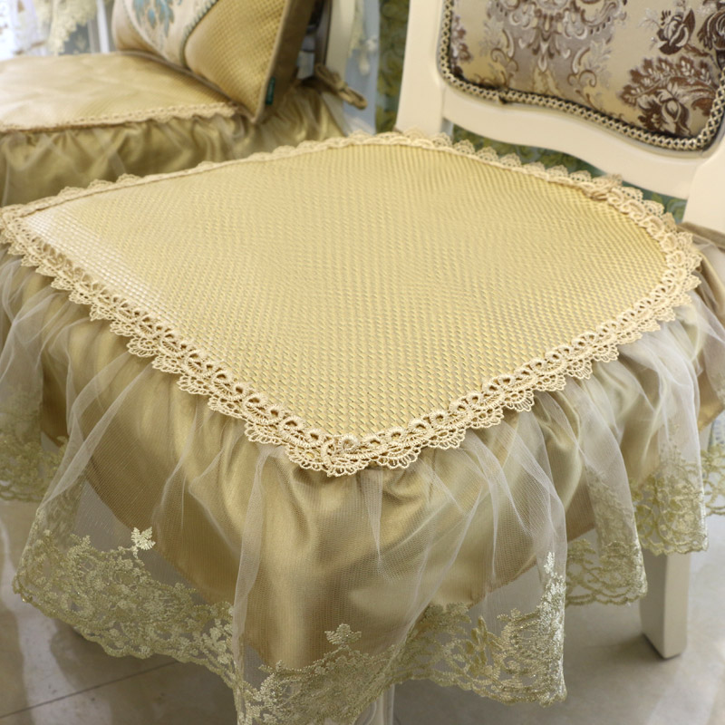 Continental dining chair cushion ice silk lace dining chair cushion dining chair cushion dining chair cushion breathable liangdian