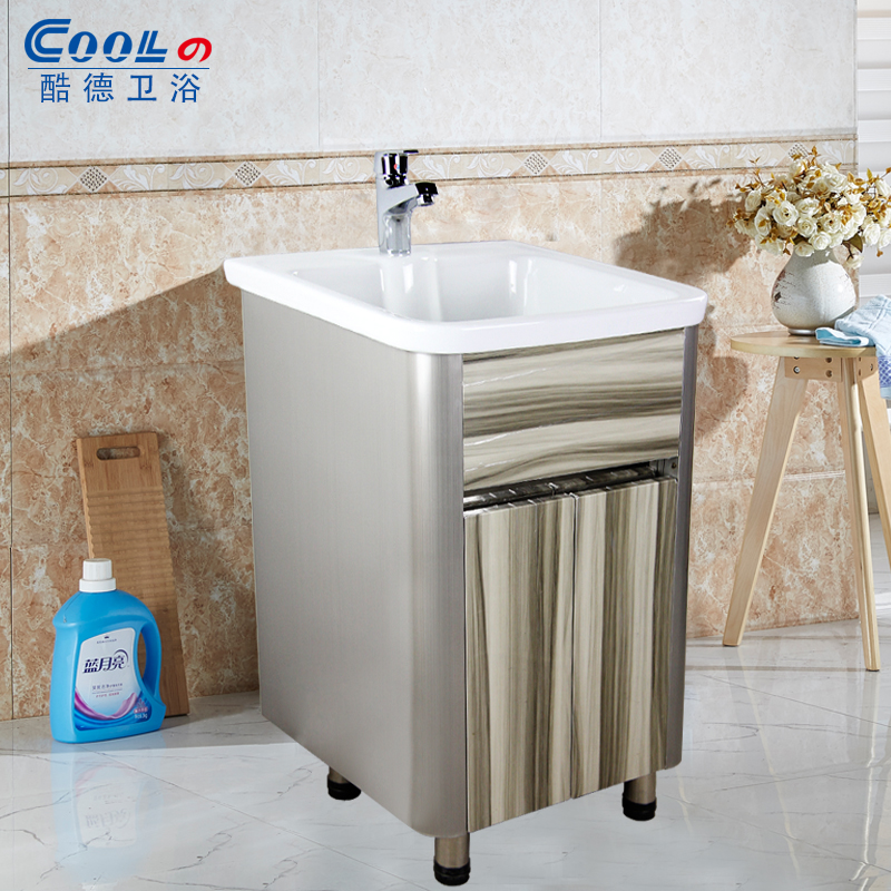 Cool german bathroom ultra deep stainless steel balcony wash closet bathroom cabinet bathroom cabinet ceramic high temperature washing laundry tub wash closet Slot