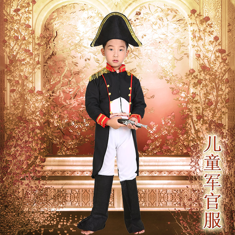 Cos cheung man halloween children's clothing male children navy suit dress clothes for children of child soldiers british officers serving