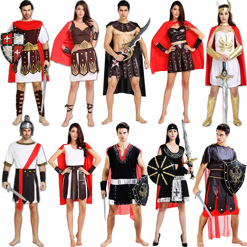 Cos halloween costume roman warrior costume adult costumes for men and women sparda crusaders party dress