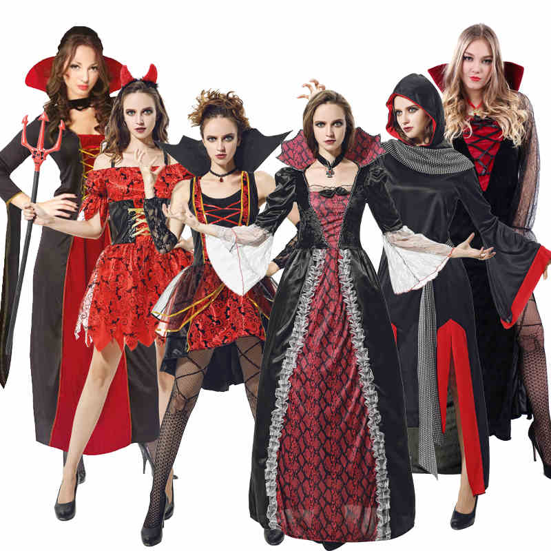 cbde16c9db1 Get Quotations · Cos halloween vampire costume adult female evil demon vampire  costume performance clothing