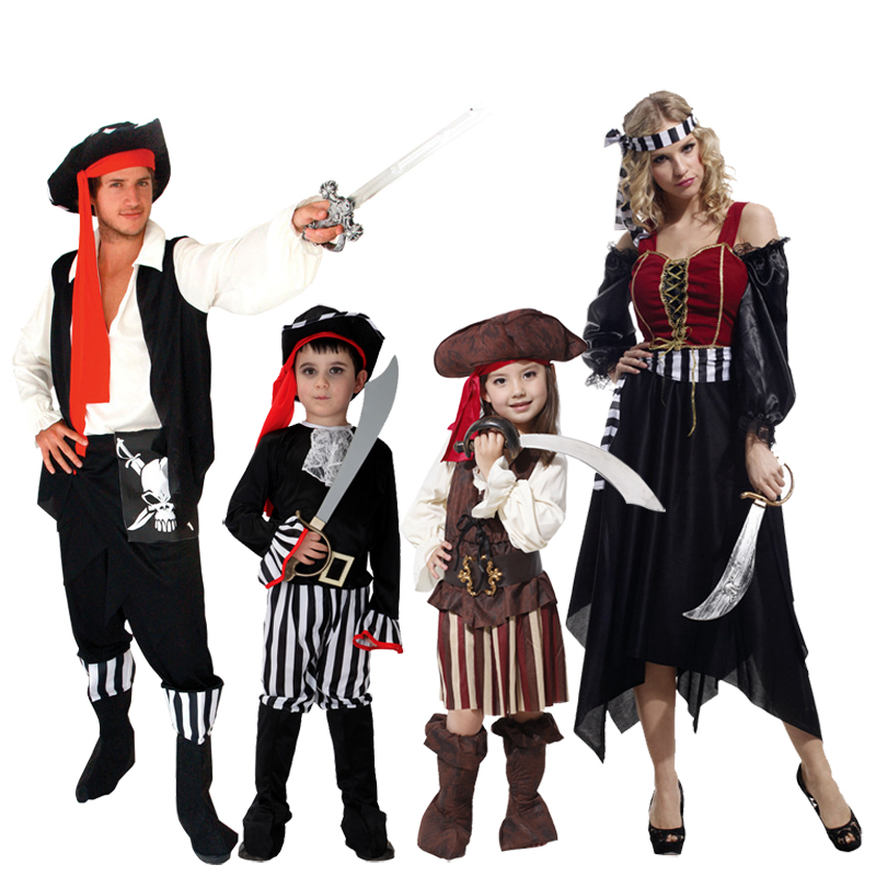 Cos masquerade halloween costume paternity party catwalk show pirate costume adult children family fitted