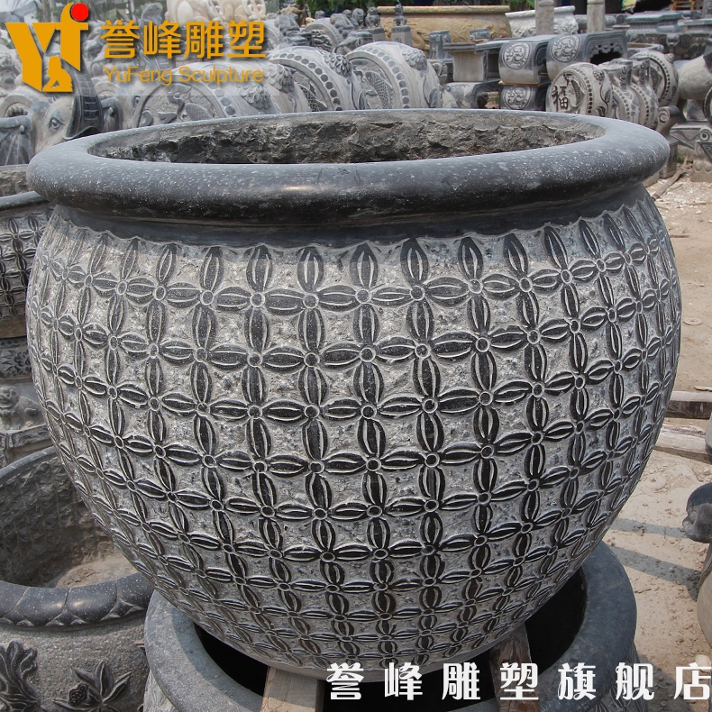 [Cosmos] marble sculpture antique stone to do the old bluestone aquarium fish tank aquarium stone flowerpot garden ornaments