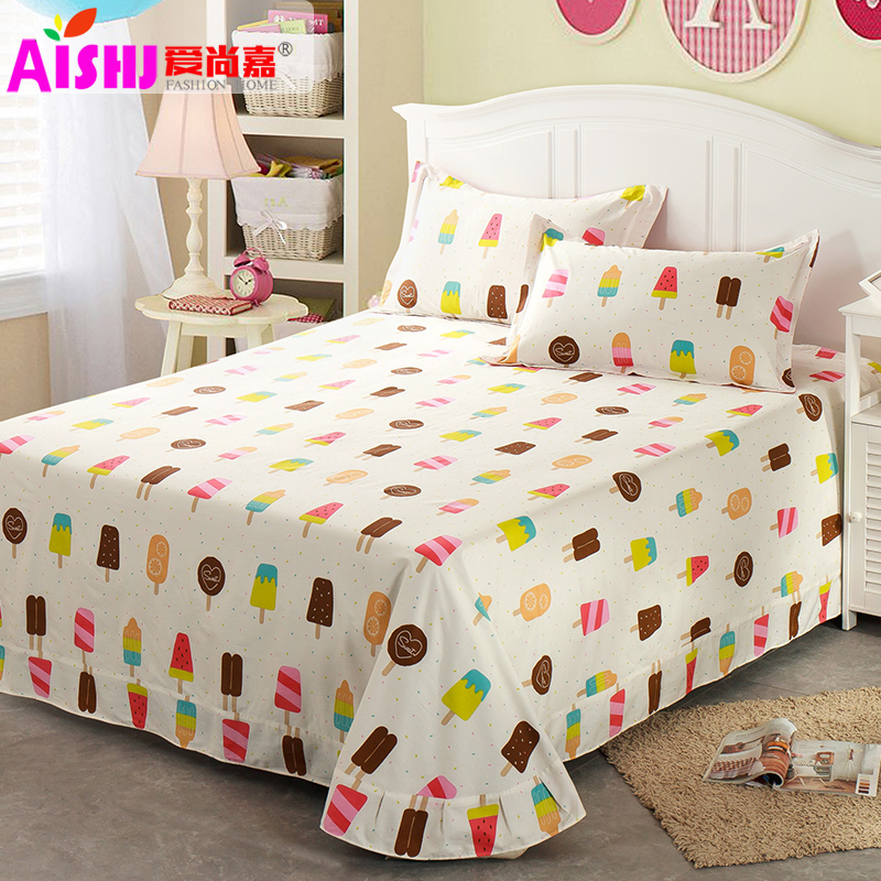 Cotton linens single piece of thick cotton cloth single or double child student linens 1.5m1. 8/2 m bedding